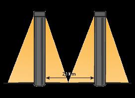 schemat: wiązka światła lampa Barite DL