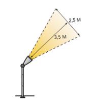 schemat: wiazka swiatla lampa ruby