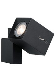 zdjęcie lampa ścienna Quartz (czarna)
